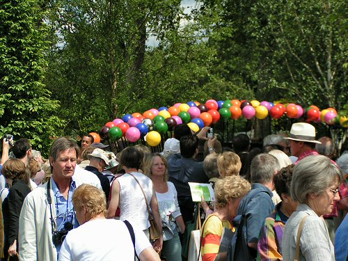 Crowds visiting A Colourful Suburban Eden