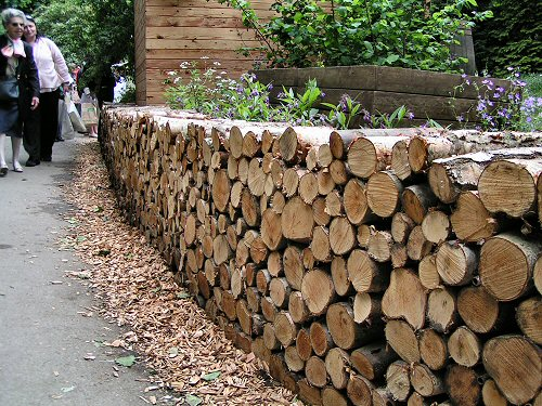 Log fence on pinterest logs firewood and