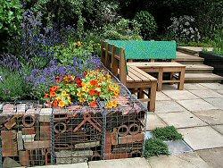 Gabions in the Real Rubbish Garden