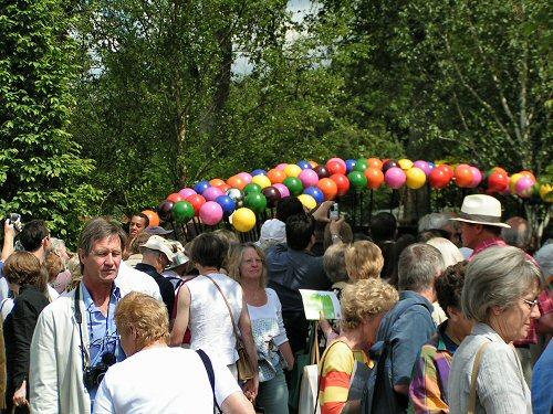 Crowds visiting A Colourful Suburban Eden